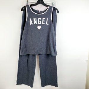 Victorias Secret Angel Heart Gray Sleeveless Pjs M